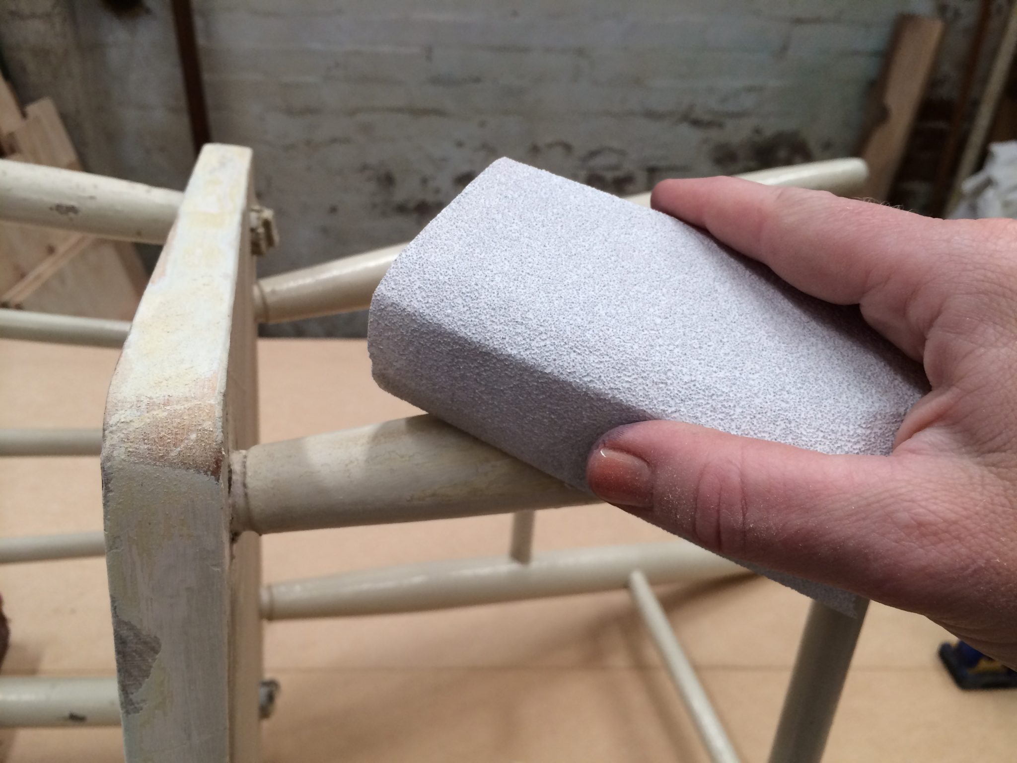 1 clean and smooth using a sanding block with 80 grit abrasive paper