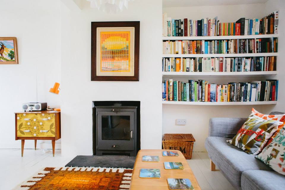 Clever new woodburner provides carbon neutral central heating and hot water... curl up with a good book