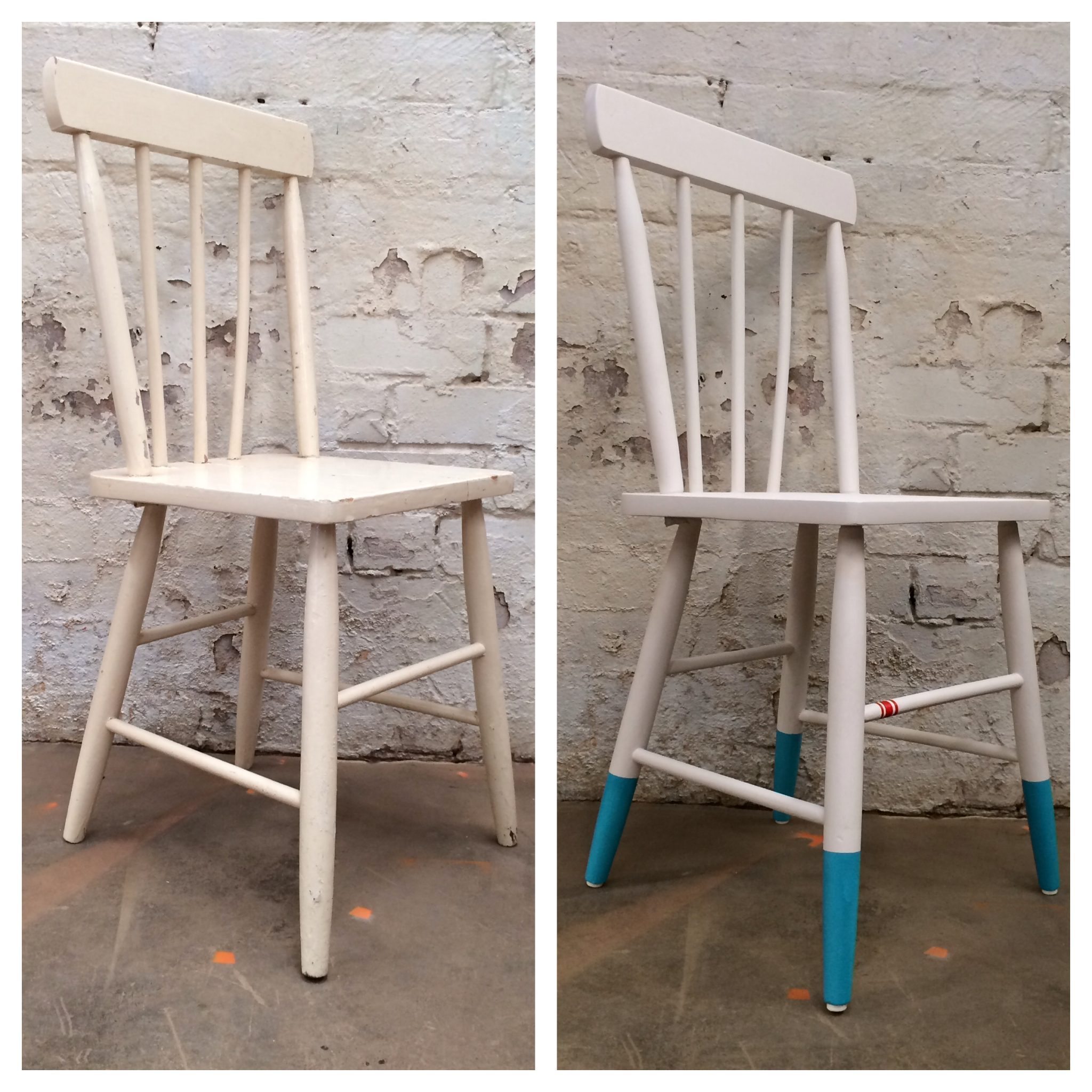 There is nothing like a good DIY to get your creative juices going, and here is an update of a project we shared a while back, from DIY extraordinaire Natasha Dickins from Little Red Industries – how to create a dipped feet chair. Natasha starred as DIY and craft presenter for The Living Room Series 1 on Network Ten and had a six-year stint as editor of Handyman Magazine, where she regularly inspired radio listeners around the country to roll up their sleeves and get handy. How to Upcycle a Dip Feet Chair Dipped legs are very on trend at the moment and this step by step challenge will take you through renovating the chair and creating the coloured feet. You can use any chair or any colours you would like and follow along with the techniques.