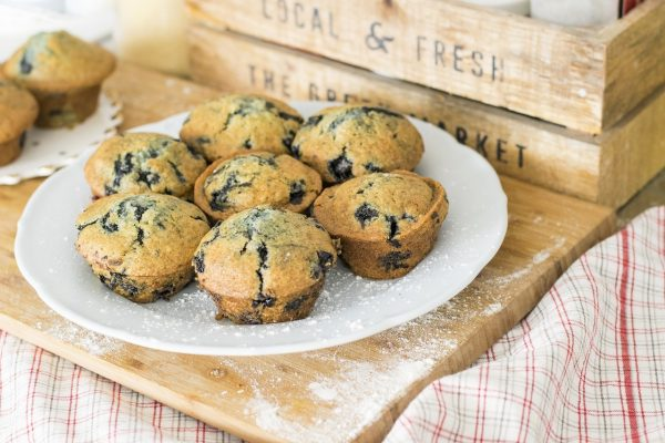 Blueberry Ricotta Lemon Zest Mini Muffins