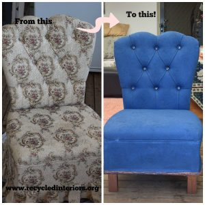 Painting an upholstered chair with Annie Sloan Chalk Paint