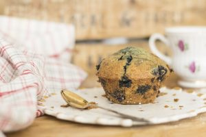 blueberry ricotta lemon zest muffins with xylitol