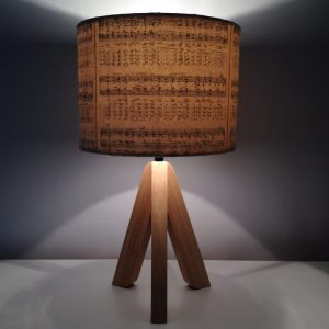 how to upcycle an old lampshade using vintage music sheets, maps and books