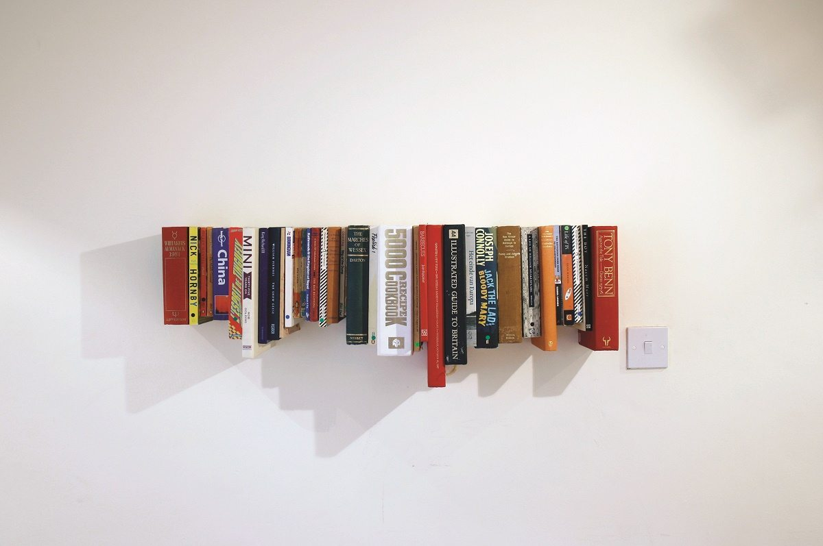 Upcycled Bookshelf from books! Copyright Richard Jennions and Harry Osborne Retrash