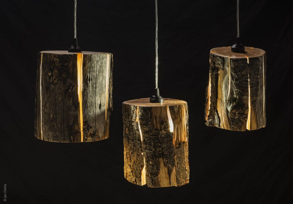 Cracked Log Pendant Lights (3)