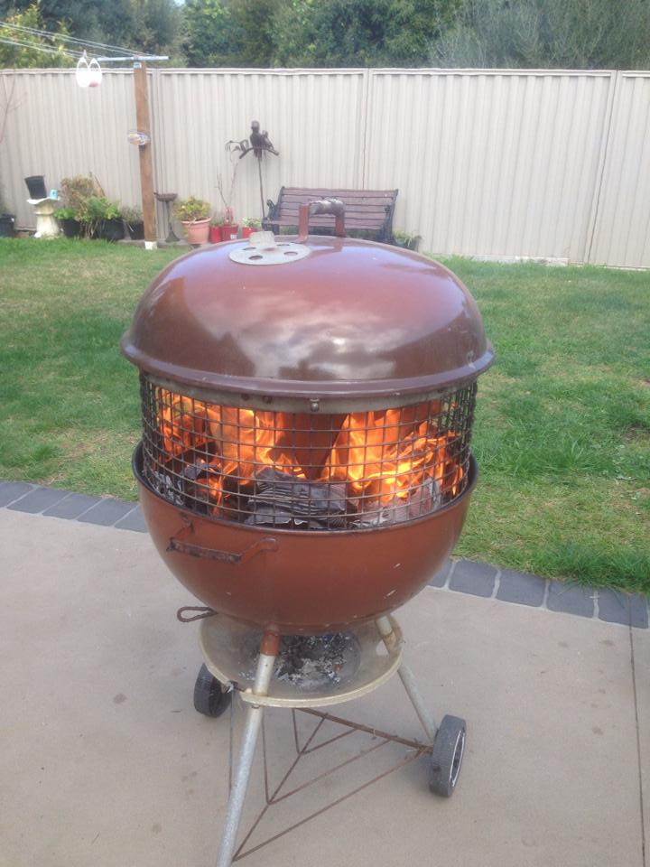 how to make an upcycled bbq fire pit recycled interiors. Black Bedroom Furniture Sets. Home Design Ideas