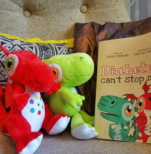 Diabetes Can't Stop Me Package - Children's Picture Book+Diabetes Dino+Dragon Characters