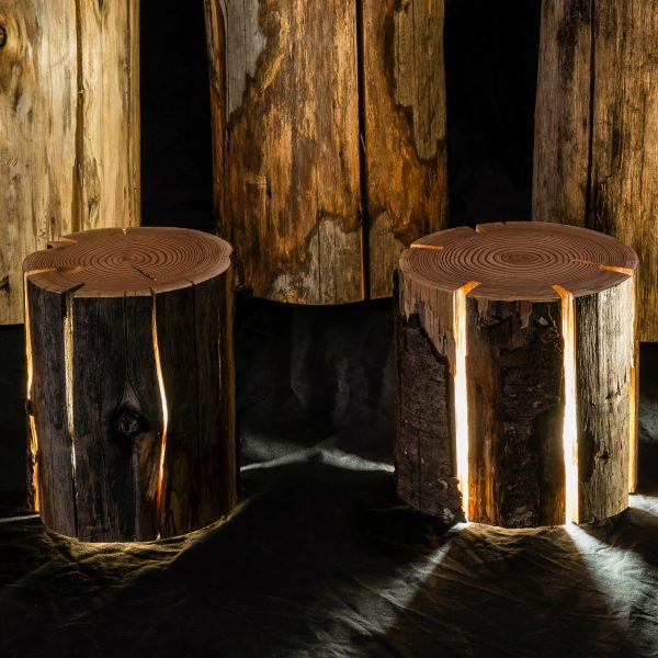 Cracked Log Lamp by Duncan Meerding