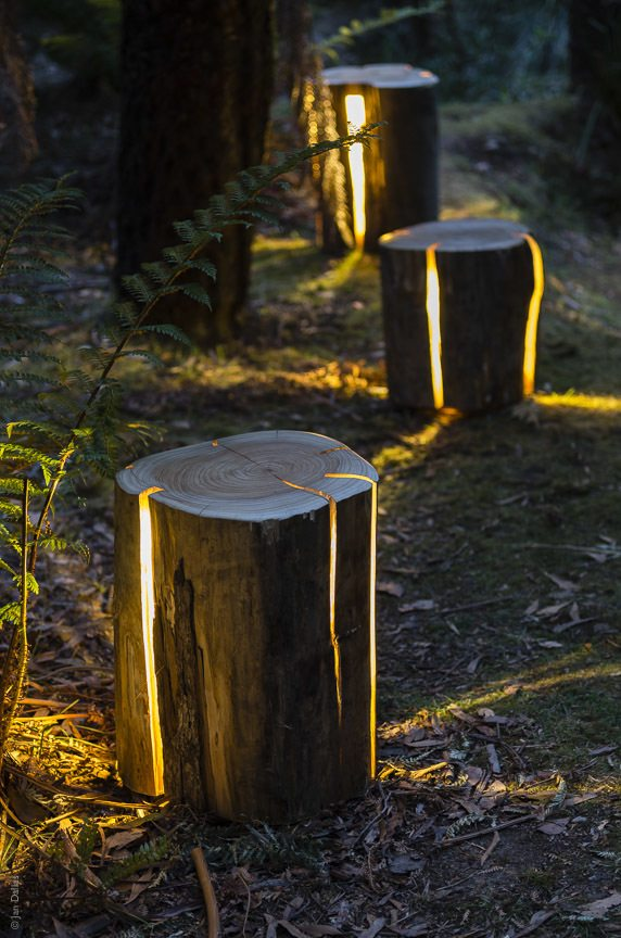 STUMP- The Cracked Log Lamp/Table/Stool by Duncan Meerding