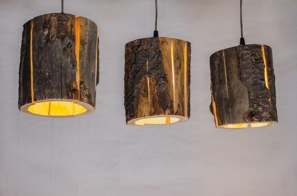 Cracked Log Pendant Light by Duncan Meerding