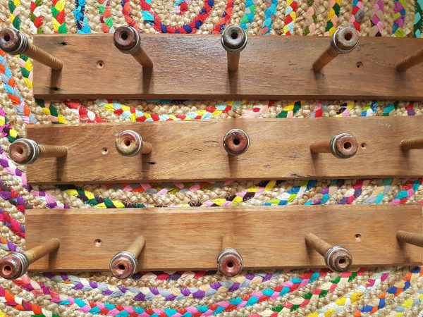 Upcycled Recycled Timber Quill Wall Hangers - with 5 Antique Quills