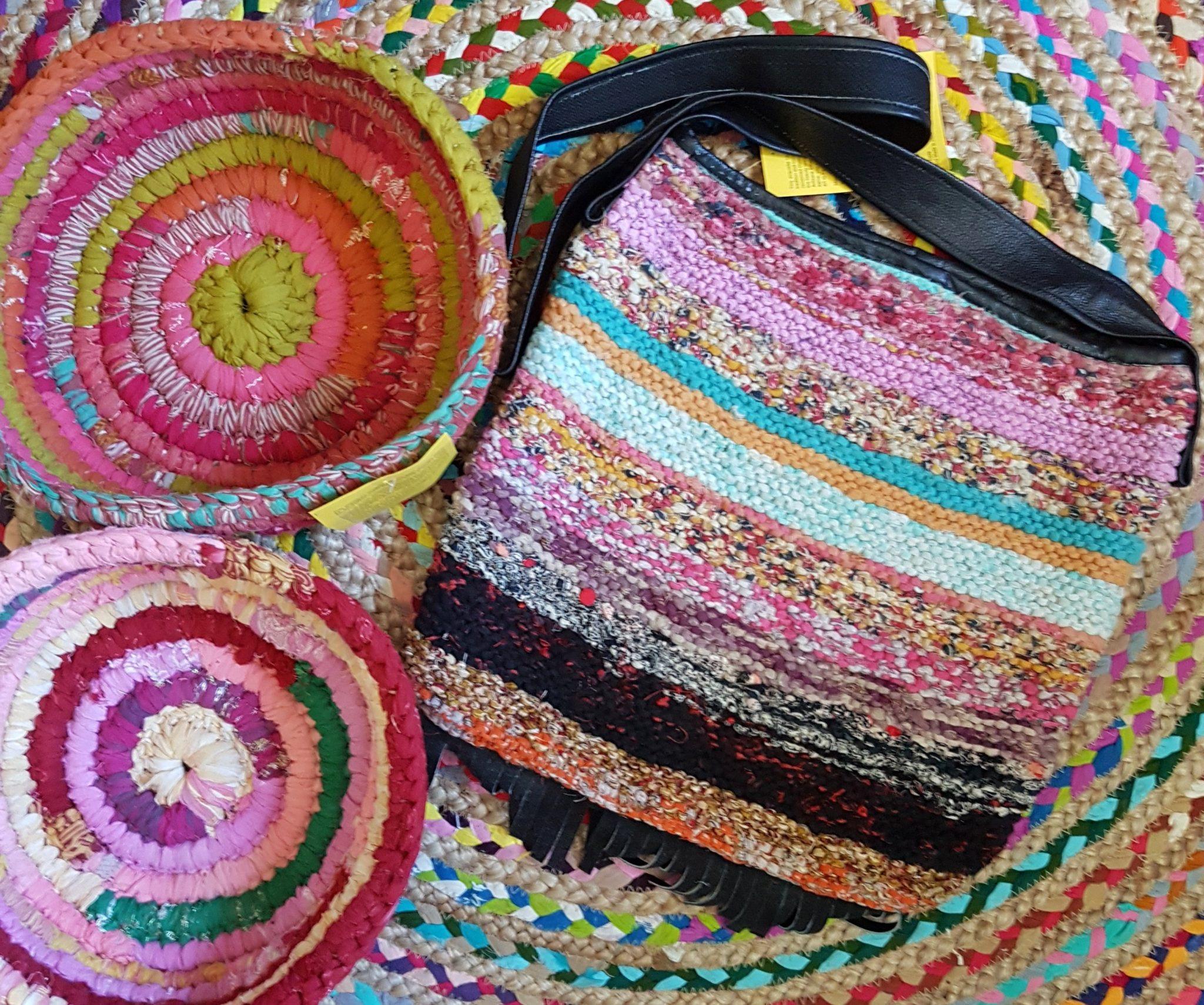 Recycled Sari Dori Bowls - multi colour