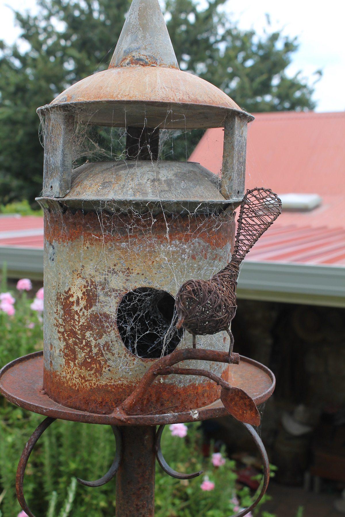 rusty metal art for the yard