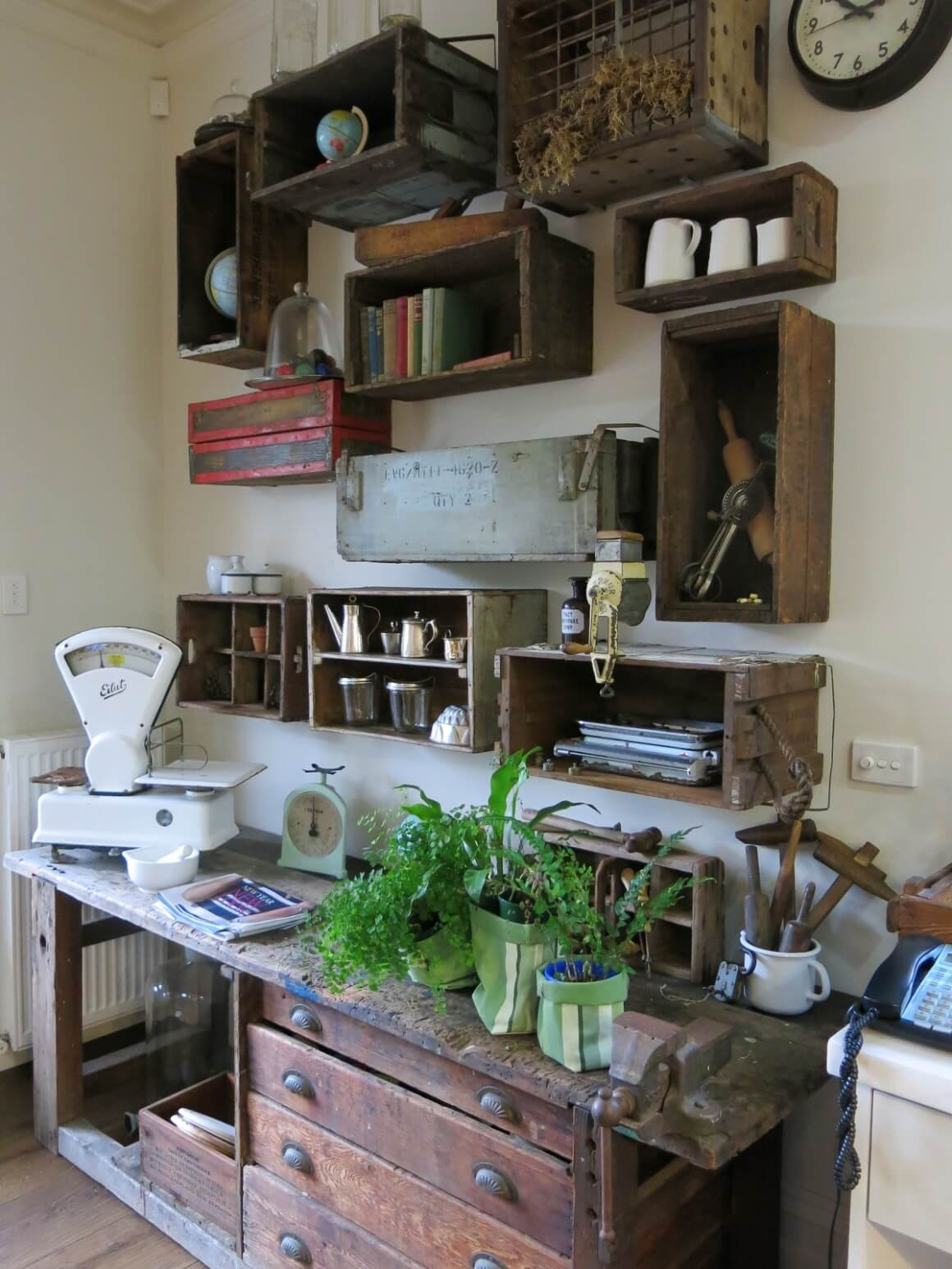 vintage-and-rustic-shelving-upcycled-in-ginas-house-tour2