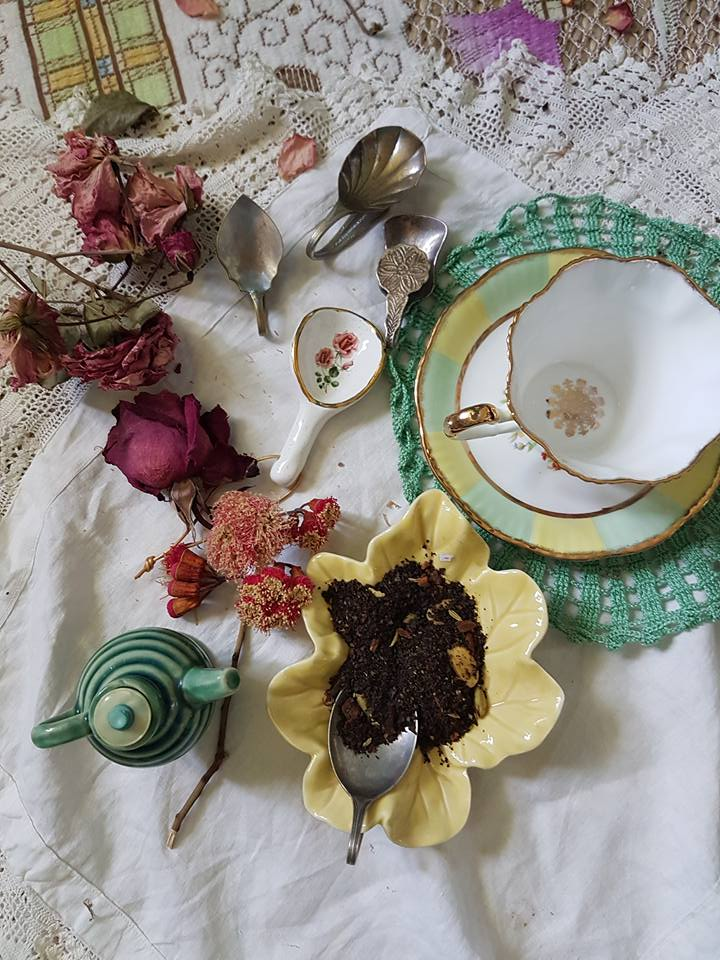 handmade tea scoops and vintage tea spoons for your tea caddy
