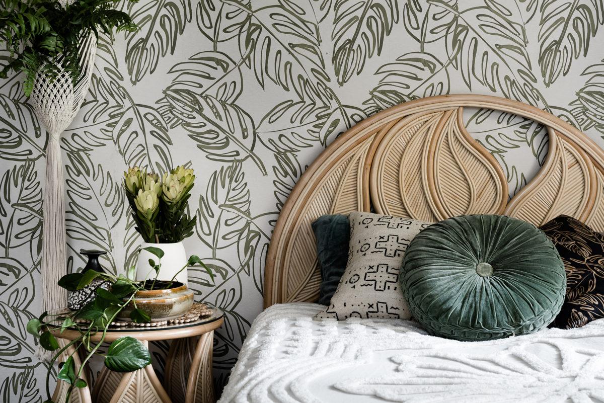 creating a boho style botanical bedroom