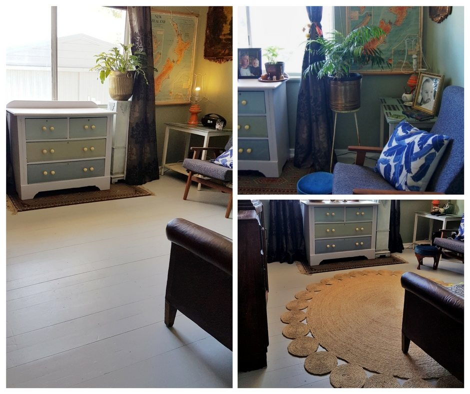 how to paint a floor grey