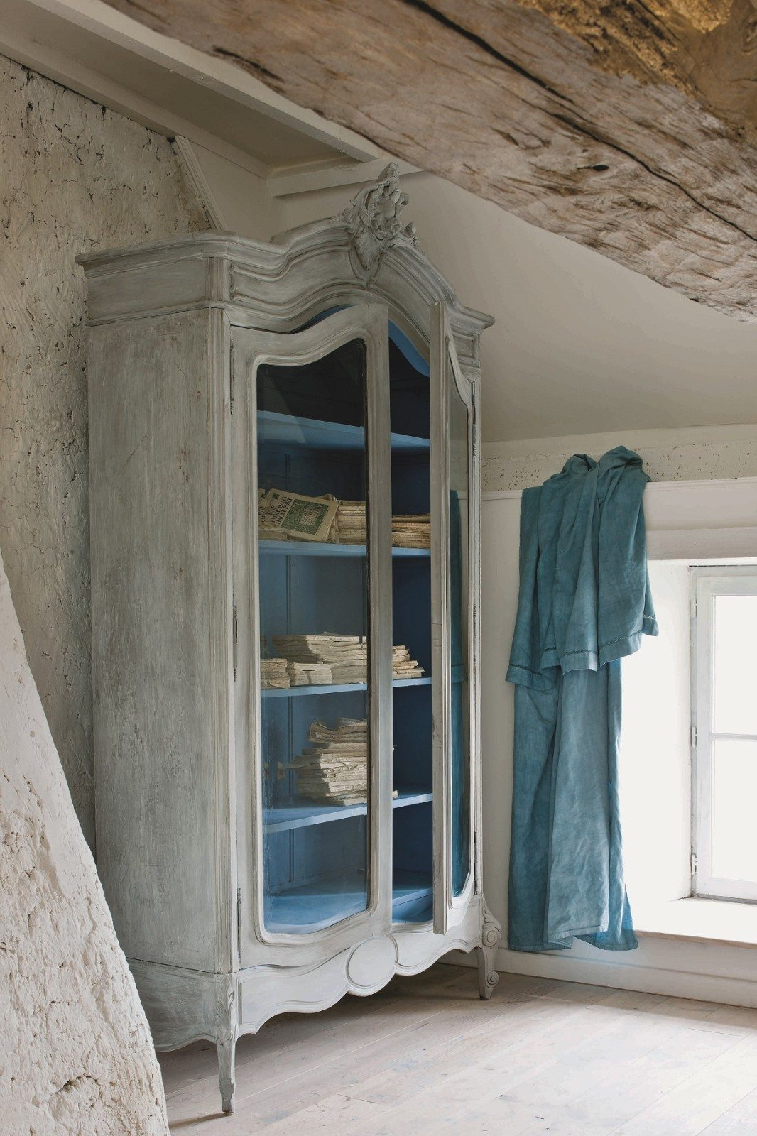 french country style wardrobe painted with chalk paint by annie sloan