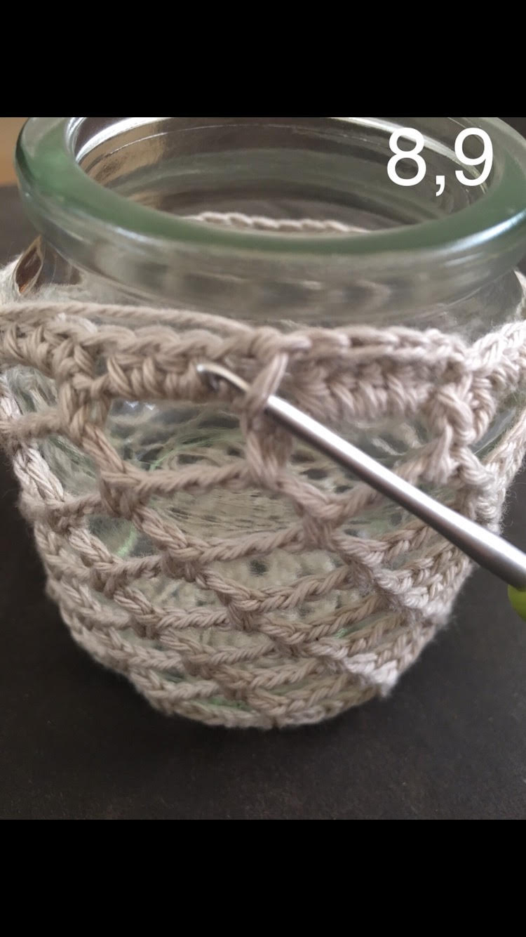 how to crochet a latern 8 and 9