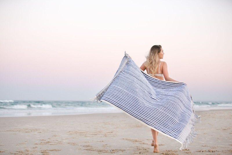 handmade fairtrade turkish towels with Aegean Loom