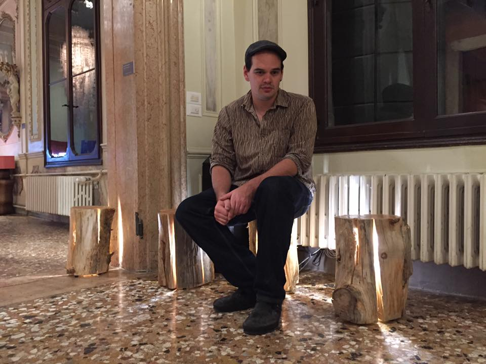 Duncan Meerding and his Stump Lights in the Palazzo Michiel