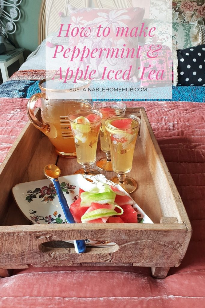 how to make peppermint and apple iced tea