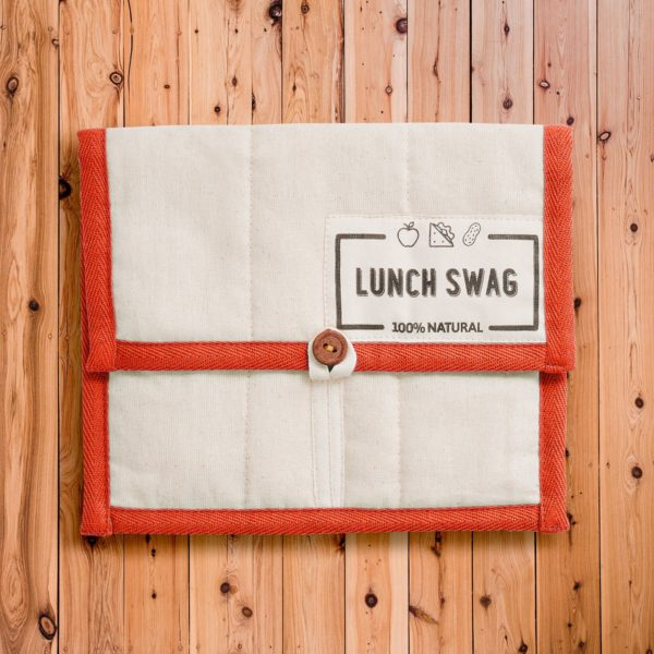 reusable lunch bag - no need to wrap your food in plastic anymore!