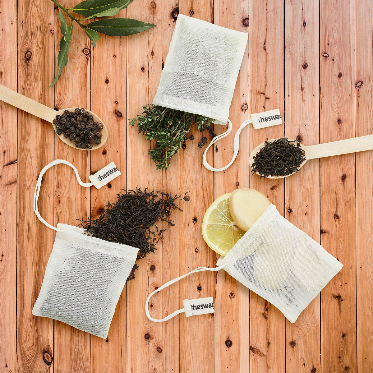 reusable tea bags with the tea swag - sustainable and plastic free tea bags