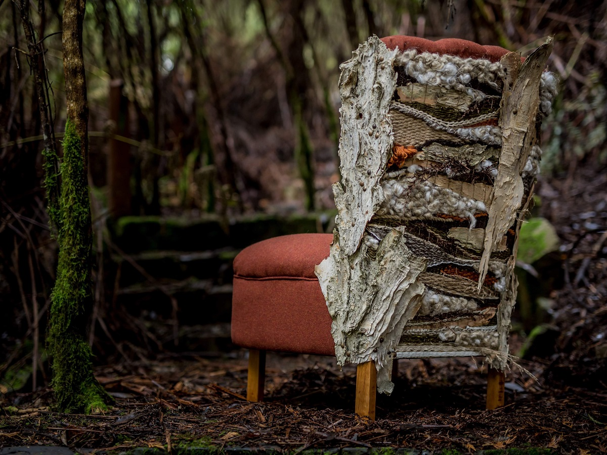 upcycled fabric chair by Antiquate 10.