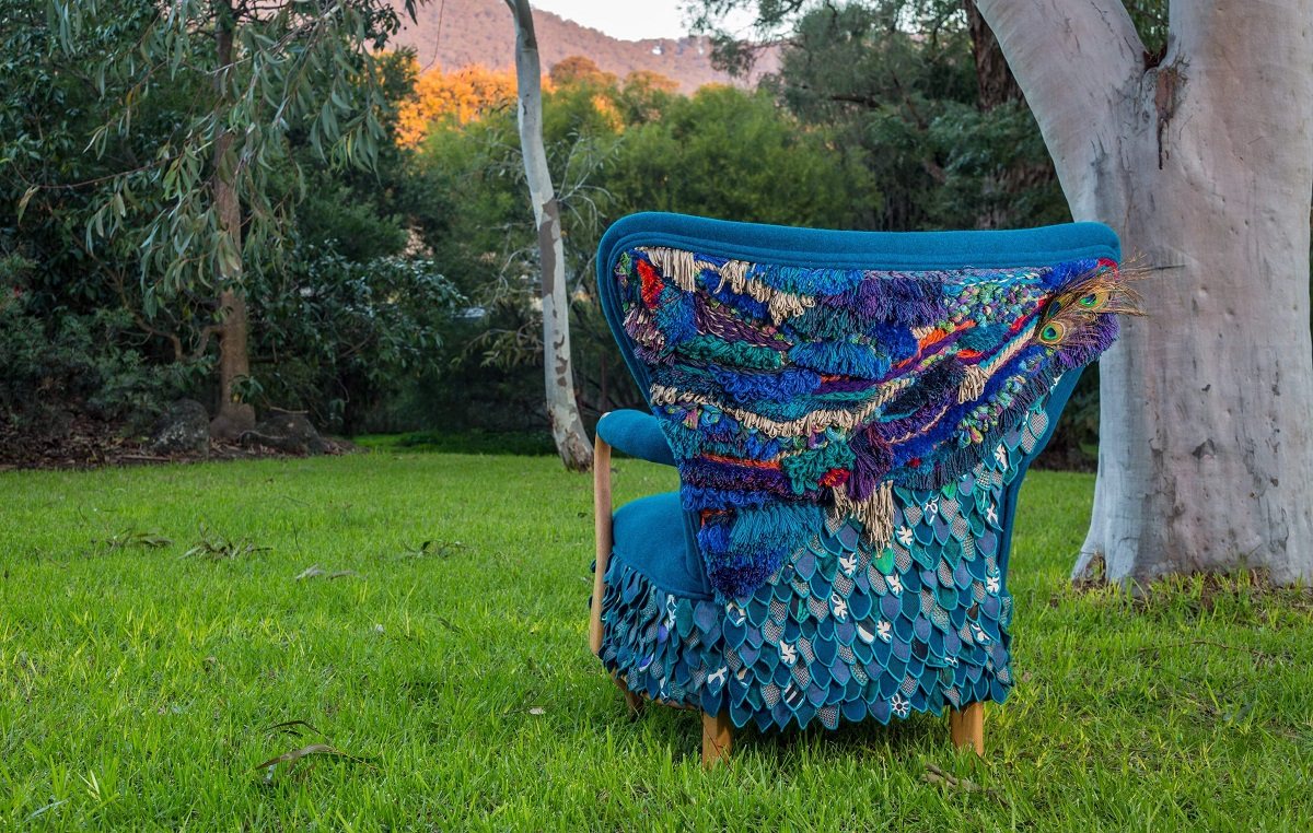 upcycled fabric chair by Antiquate Penelope