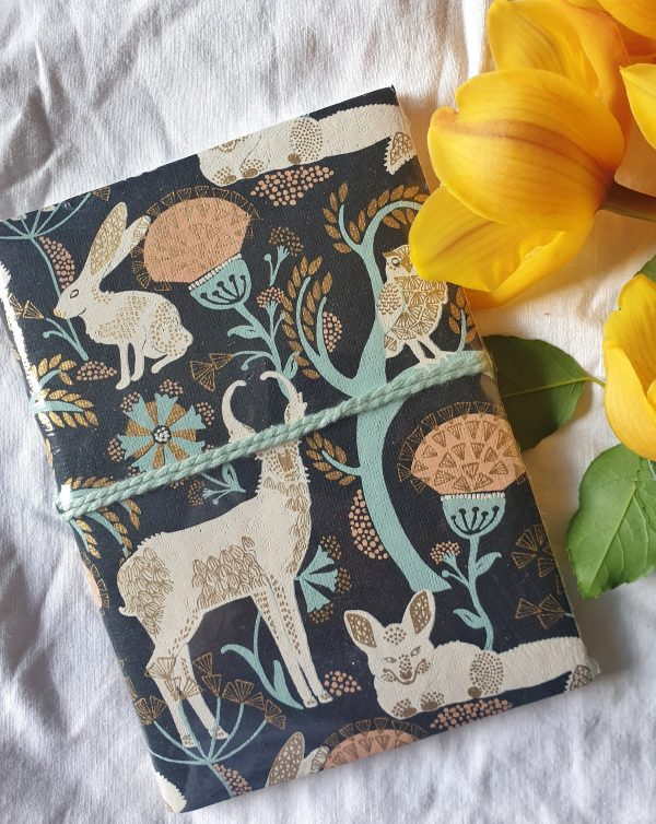 Fauna journal tree free paper fair trade made in India brown brama.