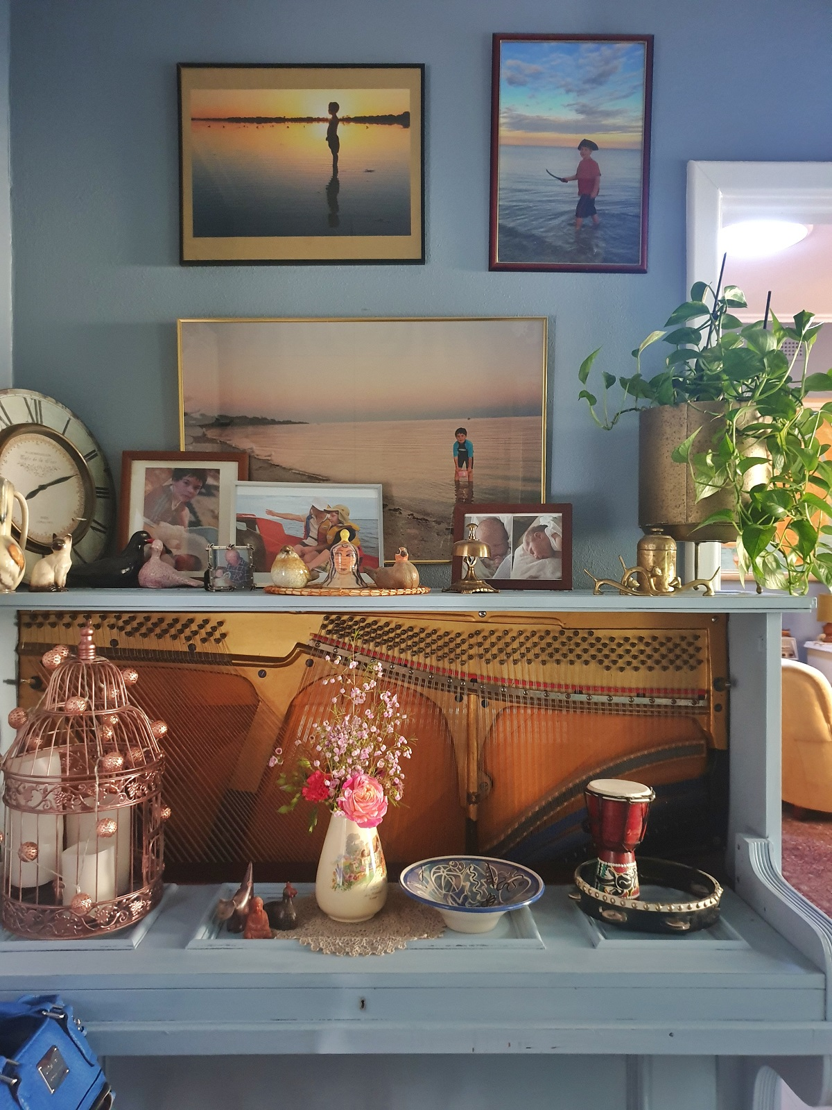 how to upcycle and repurpose and old upright piano into a cabinet
